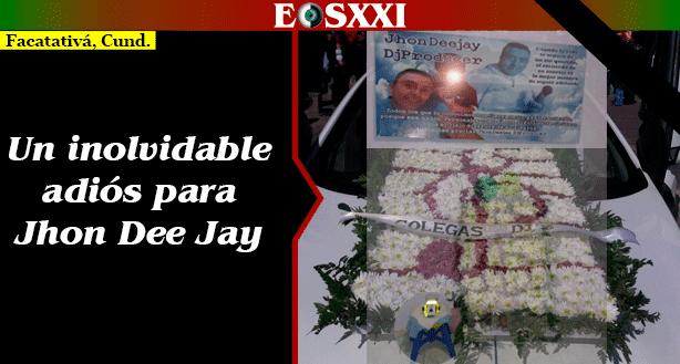 Cumpliendo su deseo, familiares y amigos despidieron a Jhon Cristancho