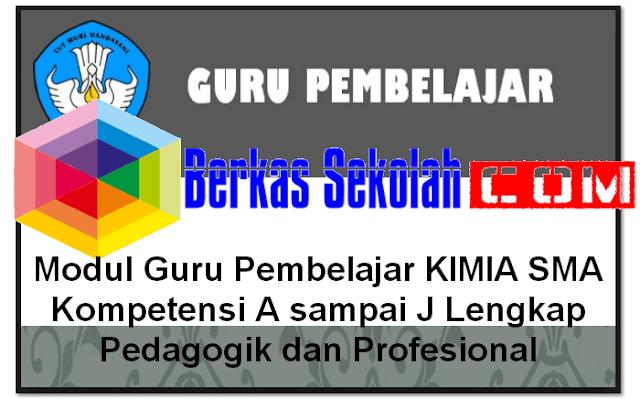 Download Modul Guru Pembelajar KIMIA SMA Kompetensi A sampai J Lengkap Pedagogik dan Profesional