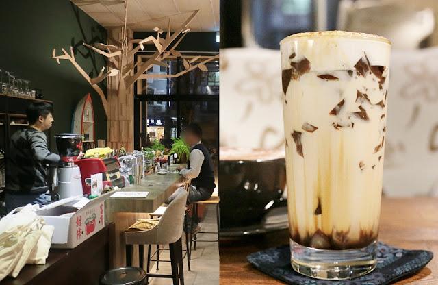 Collage Fotor1 - 啥!顛覆吧。沒有招牌的超神秘咖啡廳!超酷的黑糖expresso粉粿是深夜限定!
