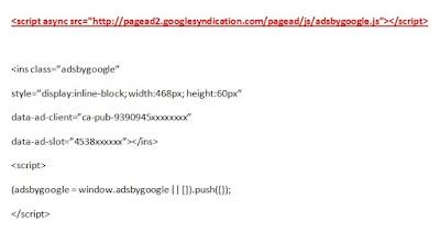 script asingkron iklan google adsense