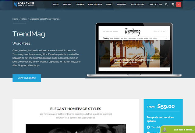 Trend Mag Wordpress Theme
