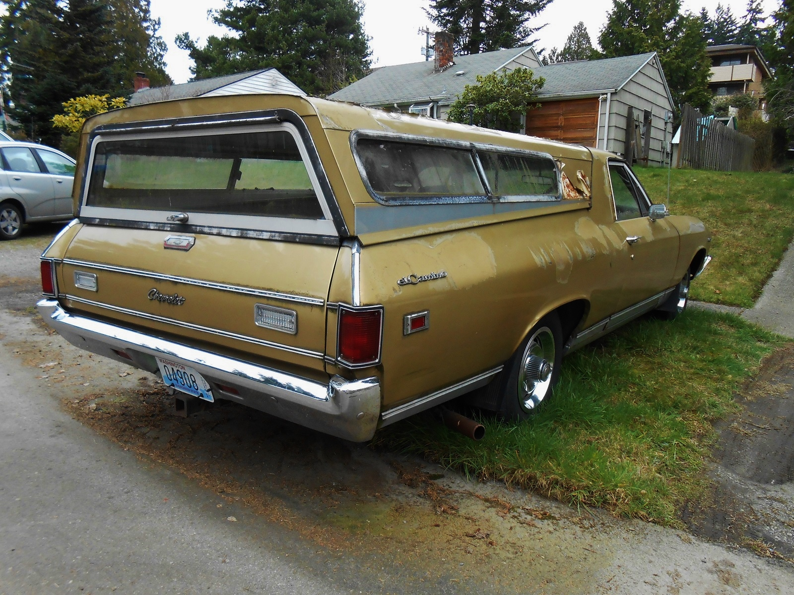 Seattles Parked Cars 1968 Chevrolet El Camino Chevy This Though Is A Little More Plain The Two Tone And Rally Wheels Look Great