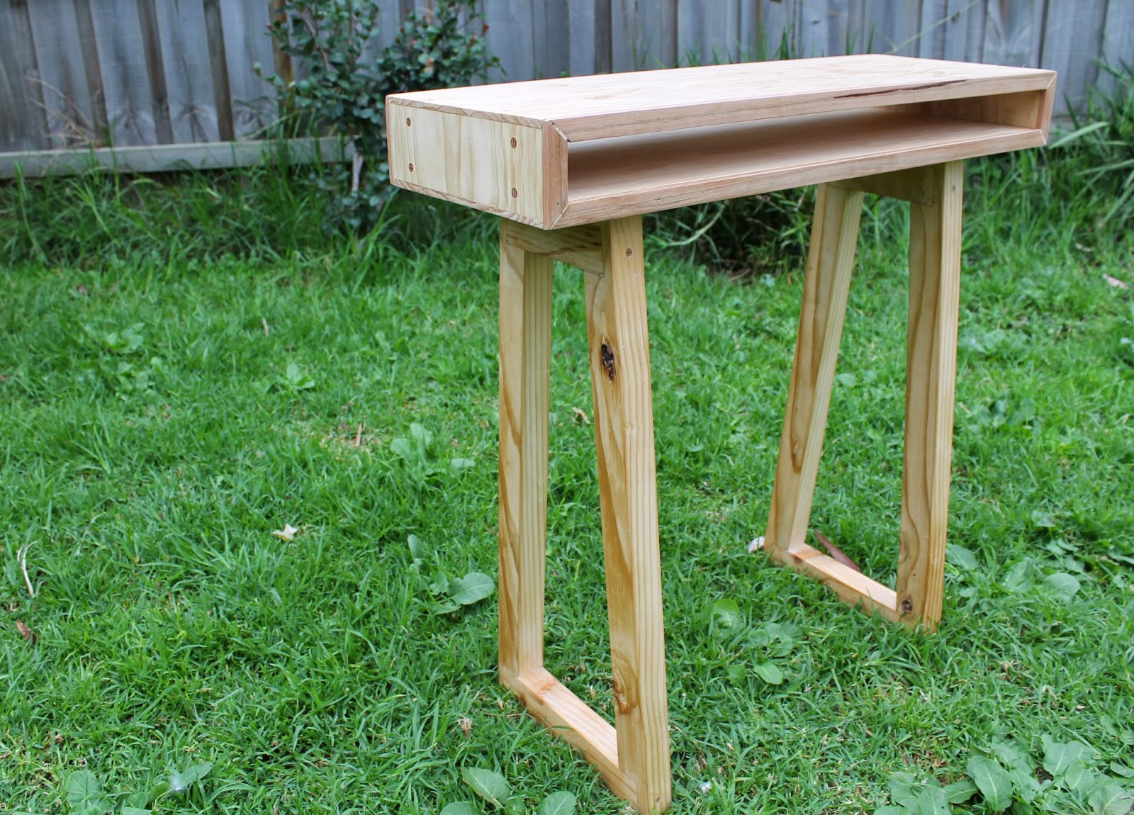 Timber Computer Desk Hallway Computer Desk Table Mymakersgrain