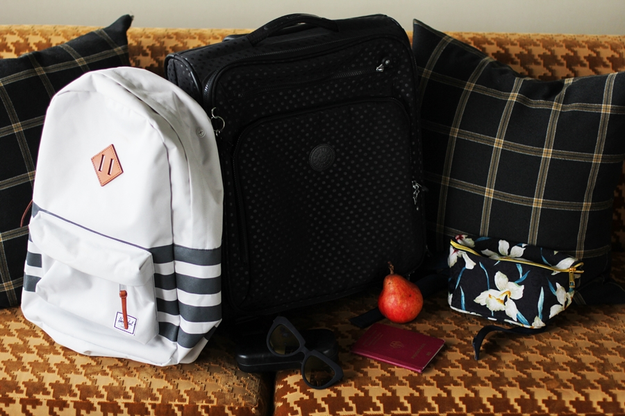 herschel bagpack | kipling suitcase | mi pac