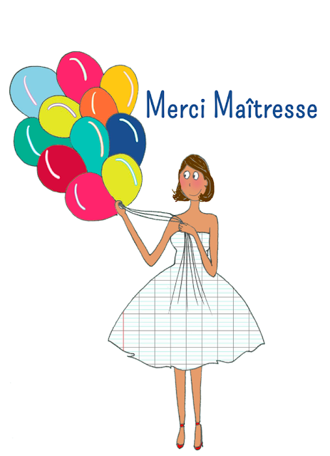stm illustrations - affiche merci maitresse