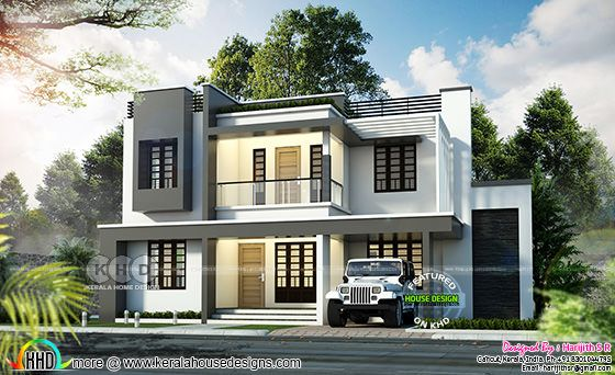 2530 square feet 4 bedroom home by Harijith S R