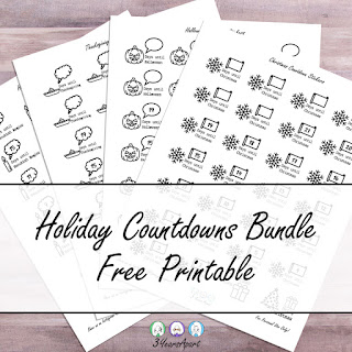 3 Years Apart Holiday Countdown Bundle Free Printable