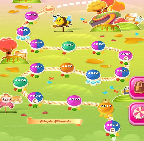 Candy Crush Saga level 5916-5930