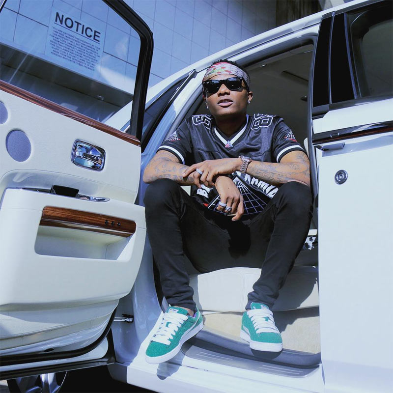 Wizkid drives a Rolls Royce in South Africa