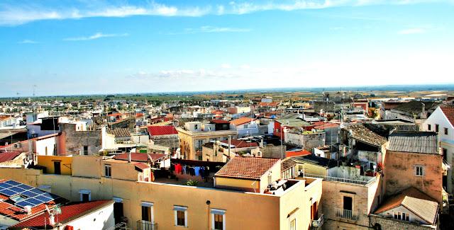 cielo, tetti, case, abitazioni, paese, panorama, paesaggio