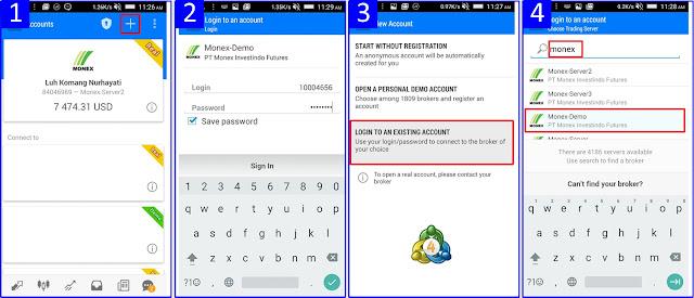 Cara Login Akun Trading di MT4 Android