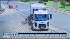 Ciclista é atropelado por caminhão de lixo no interior de SP