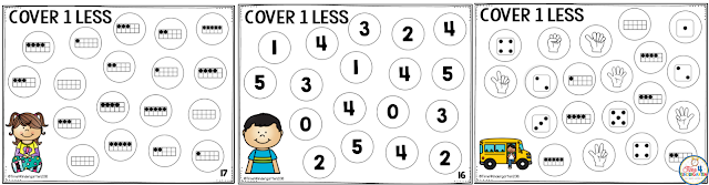 Math games for kindergarten.  Math maths using dice are a great way to teach number concepts.  one more, one less and one, ten fames, subitizing and finger counting.  Include math games in your daily math routines.  Your students will love playing these quick and easy engaging math dice games. easy no-prep print and go. just add dice. Great for early finishers use in math centers.