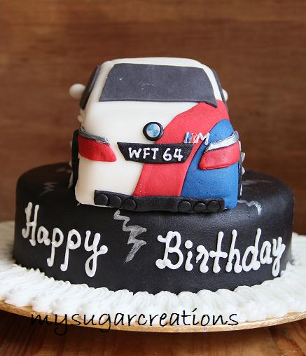 My Sugar Creations 001943746 M BMW Car Cake