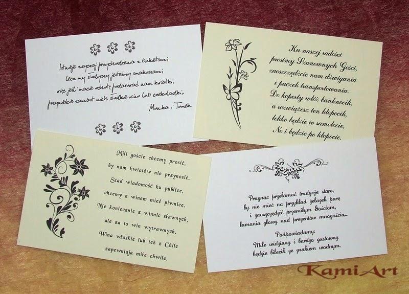 wierszyki na zaproszenia slubne