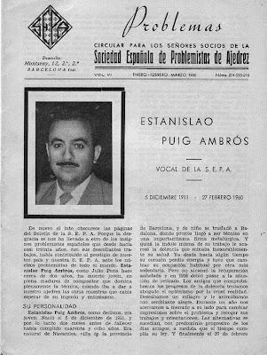 Portada de Problemas, comunicando el fallecimiento de Puig-Ambrós