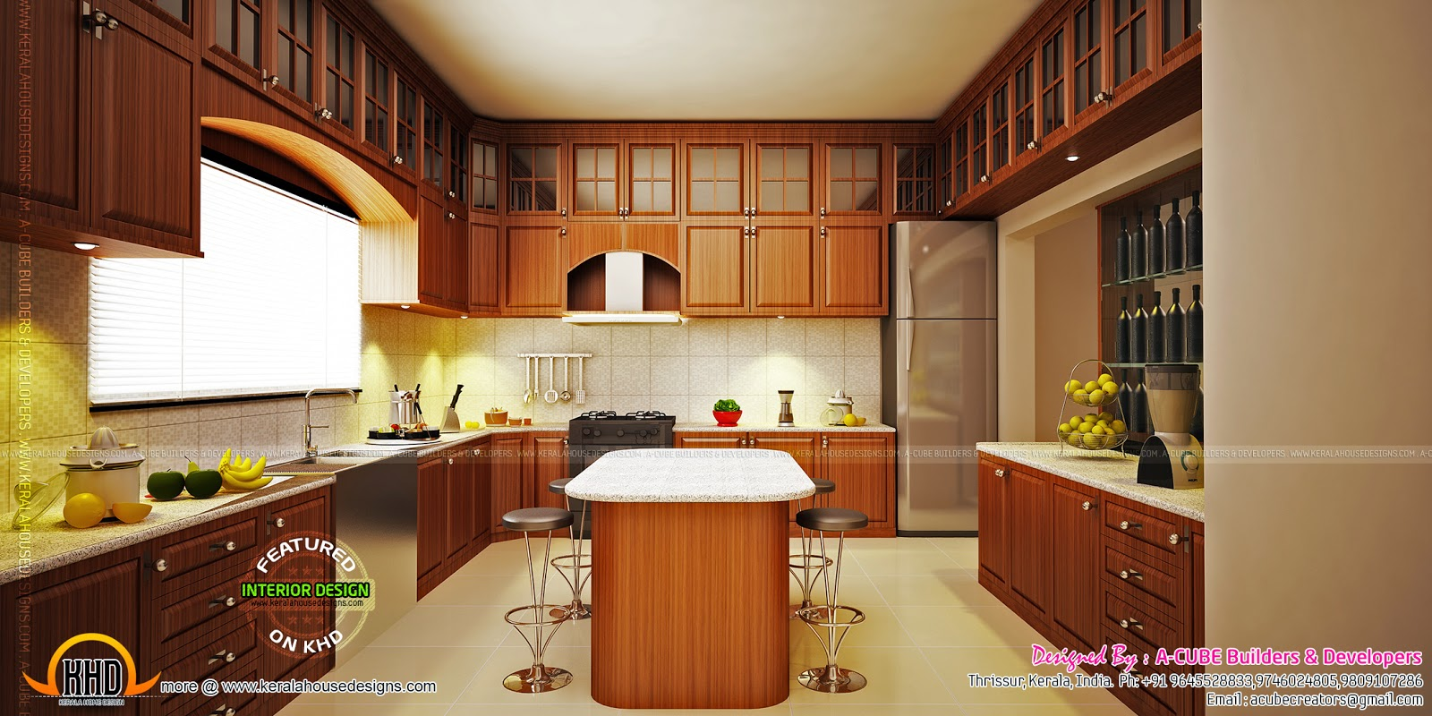 Kitchen Interior Design: Modern Kerala Interior Designs