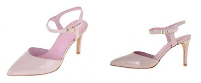 sandalias de charol color rosa