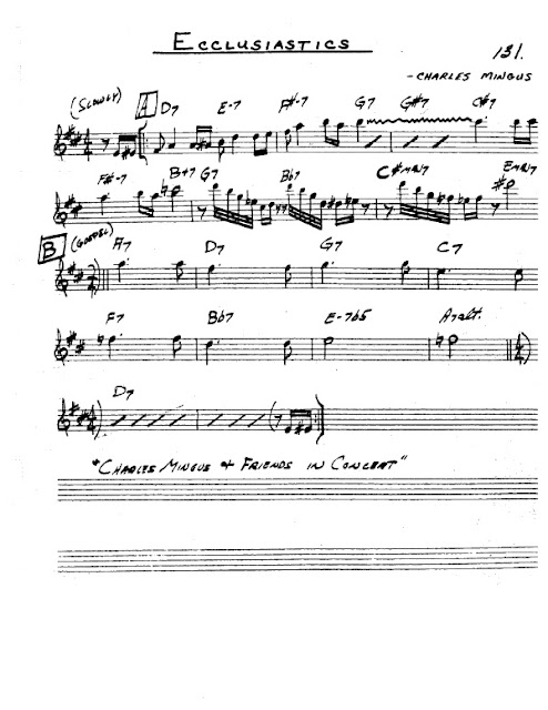 Partitura Saxofón Charles Mingus