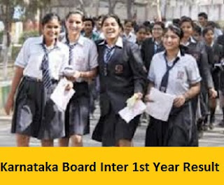 Karnataka Board Inter 1st Year Result 2017