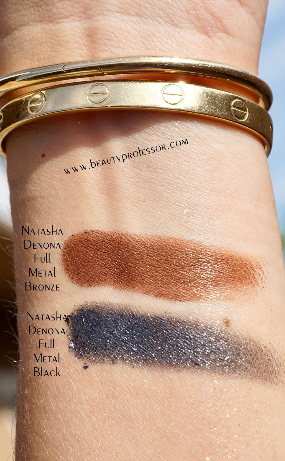 Natasha denona chroma crystal full metal bronze swatches