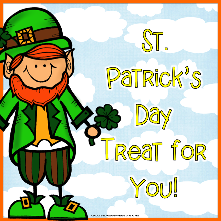Teach 123 and Fern Smith's Classroom Ideas have two St. Patrick's Day Gifts For You!