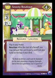 My Little Pony Snooty Boutique Canterlot Nights CCG Card