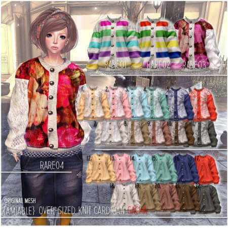 {amiable}Over-sized Knit Cardigan Gacha