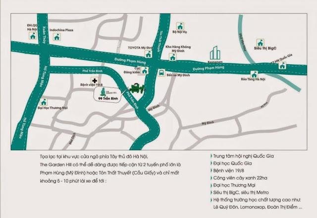 Vị trí dự án The Garden Hill 99 Trần Bình.