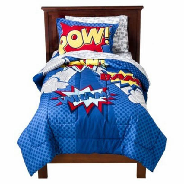 Superhero Bedding Theme For Boys Bedroom