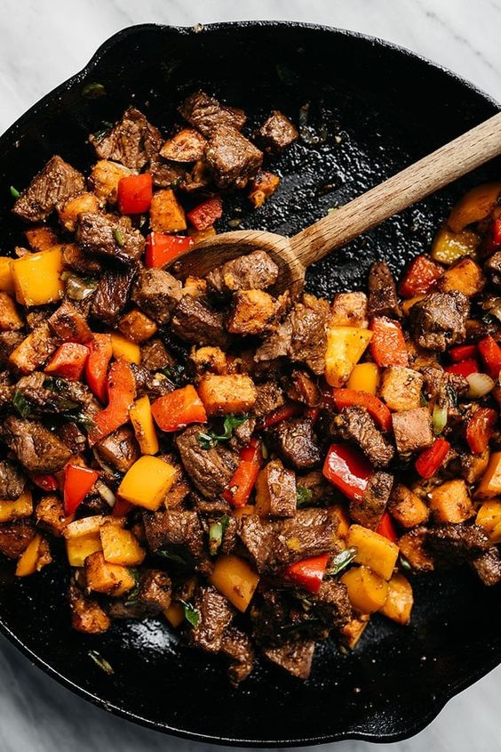 Sweet Potatoes and Peppers
