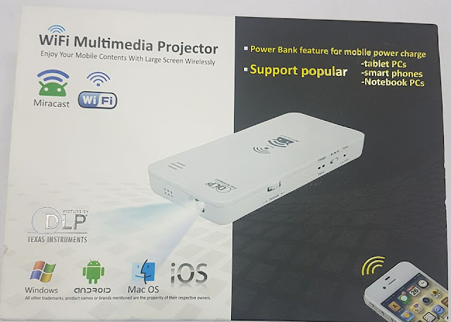 Wifi Multimedia HD projector with battery backup