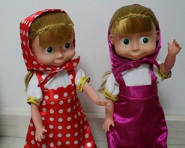 Gambar boneka masha kembar