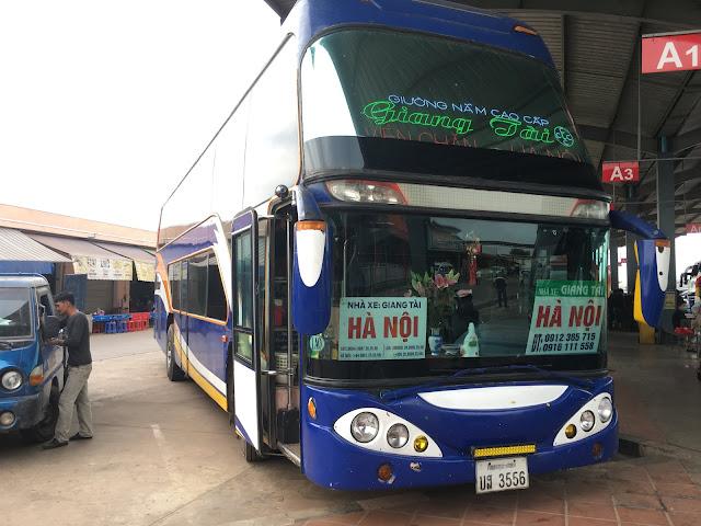 Bus HTX Van Tai 277, Vientiane Laos ke Hanoi Vietnam