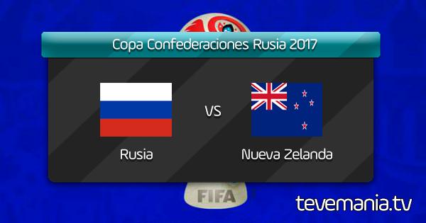 Rusia vs Nueva Zelanda por Internet - Copa Confederaciones 2017 - Latina
