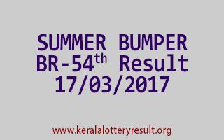 SUMMER BUMPER BR 54 Lottery Result 17-3-2017