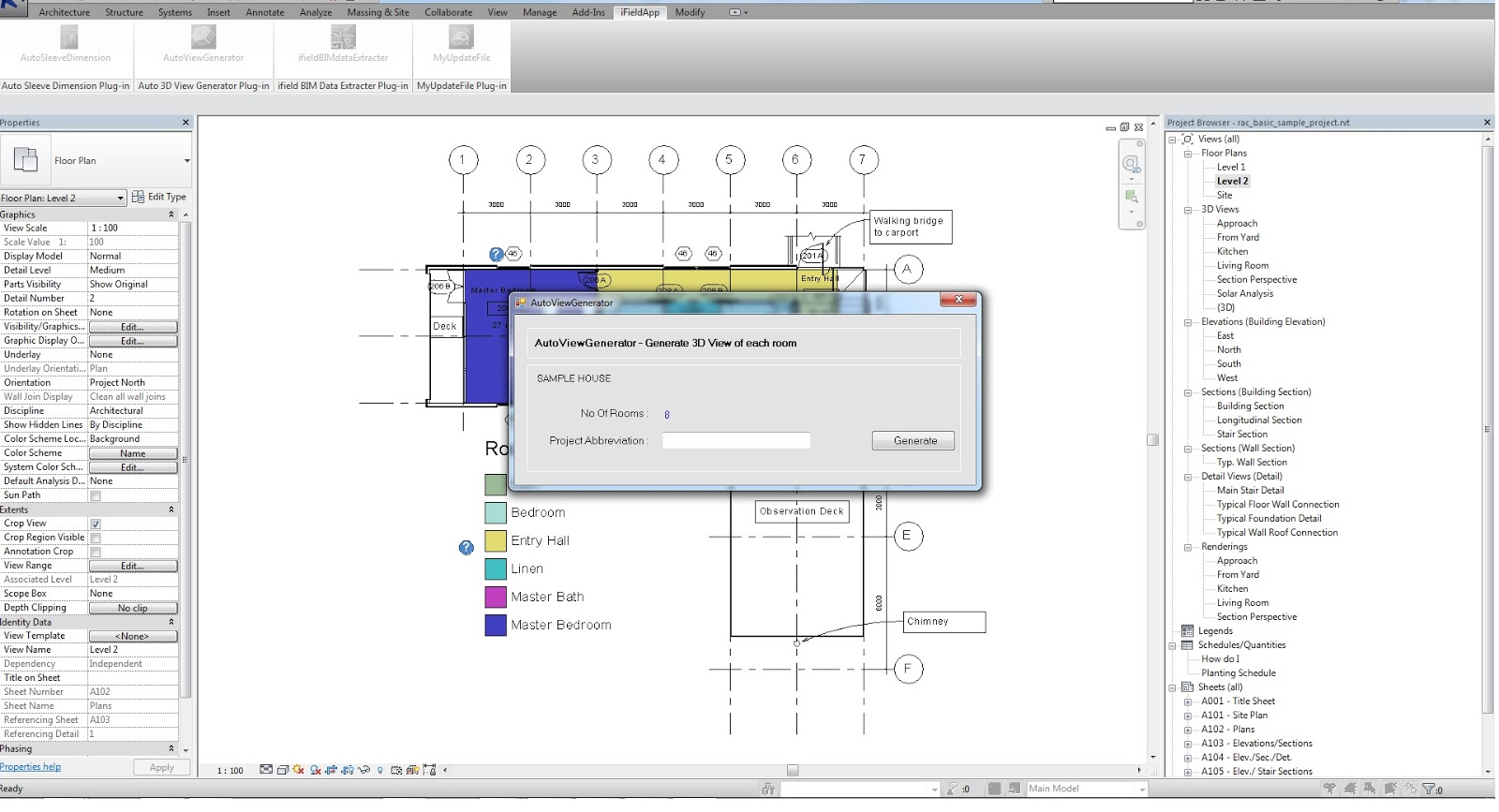 AutoViewGenerator AVG Generate 3D Views for All Rooms Revit news – Site Plan Abbreviations
