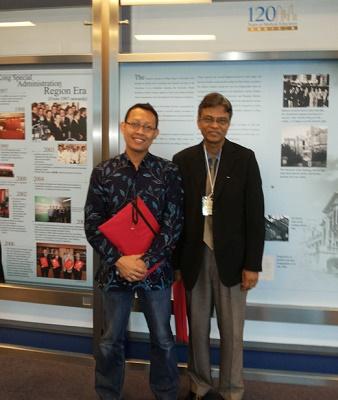 With Fellow Colleague, FIMHSE-HKU-2013, Hong Kong