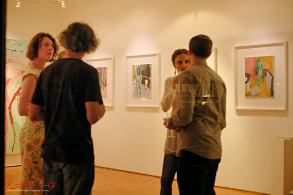 Elan, paintings by Trenton Shipley at Gallery Eight. Photo by Kent Johnson.