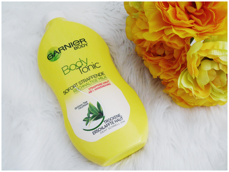 beauty | favorite five beauty products | april 2016 | garnier body tonic sofort straffende reichhaltige milk | more details on my blog http://junegold.blogspot.de | life & style diary from hamburg | #beauty #garnier #bodymilk