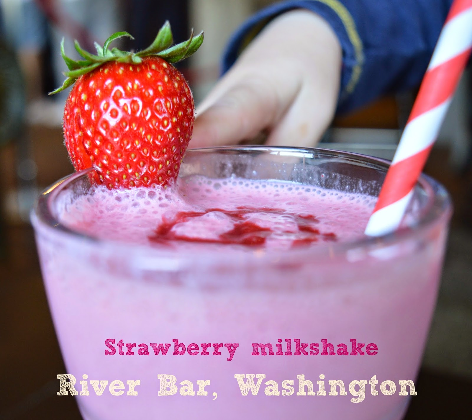 Strawberry milkshake, River Bar, Washington