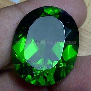 Batu Permata Green Tektite - ZP 1018