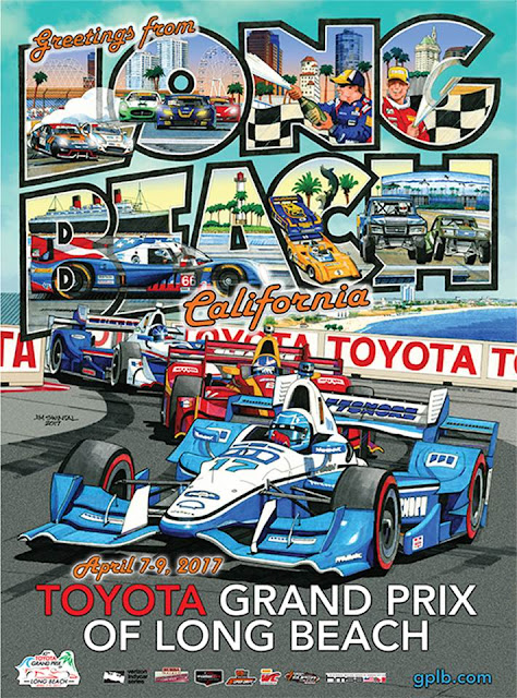 43rd Toyota Grand Prix Of Long Beach Issues Swintal Poster For Event