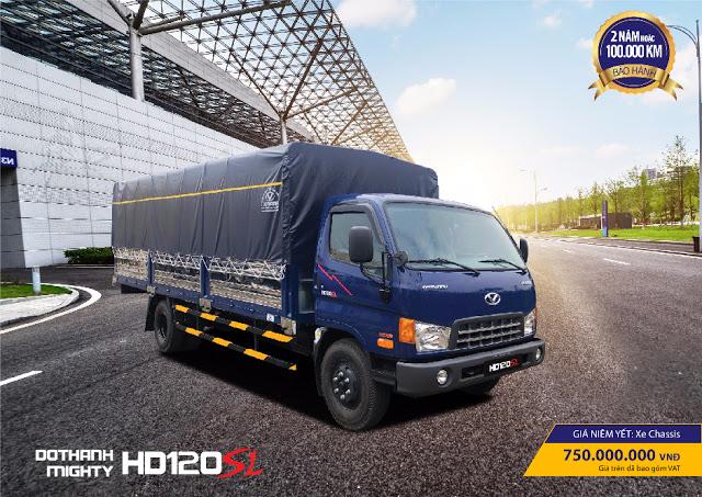 Giá lăn bánh xe 8 tấn Hyundai HD120sl chở bình ga