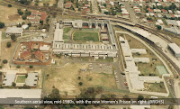 Aerial photo of Brisbane's Boggo Road Gaol, mid-1980s.
