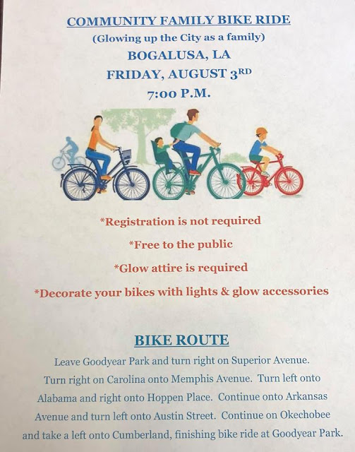 Bogalusa Community Family Bike Ride is August 3rd