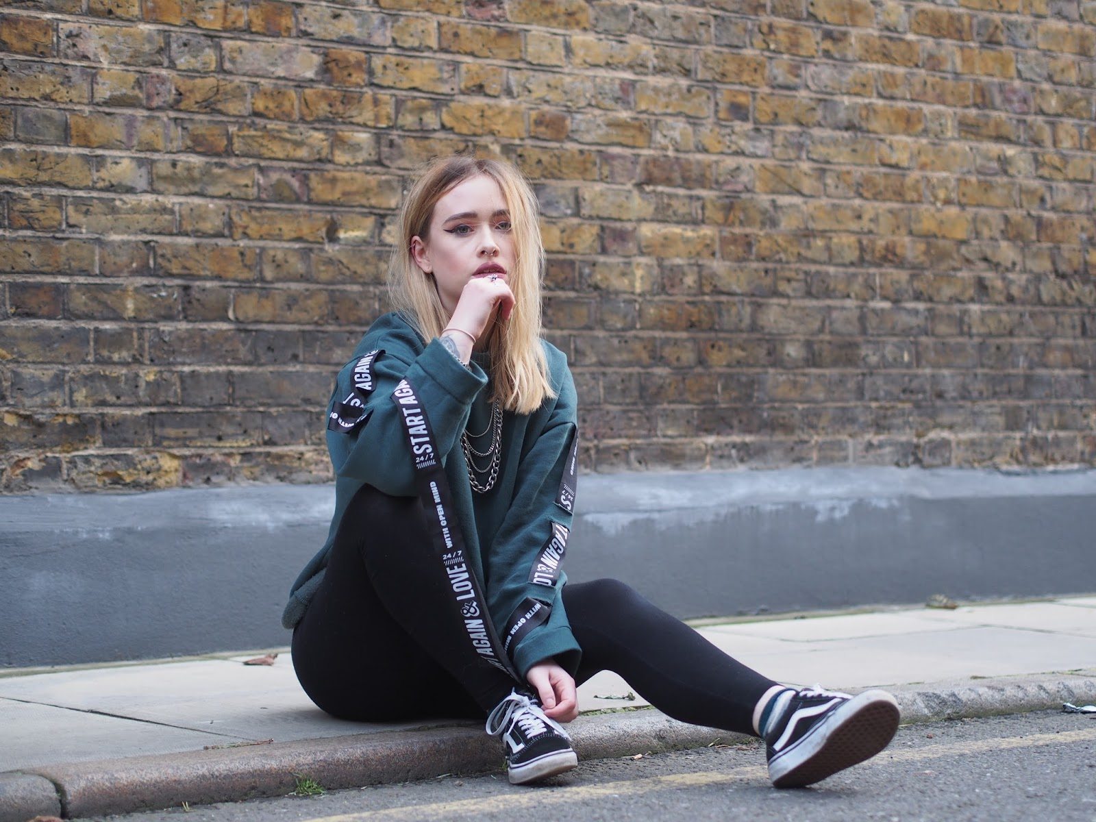 Fashion blogger Lucy Love styles a Zara sweater