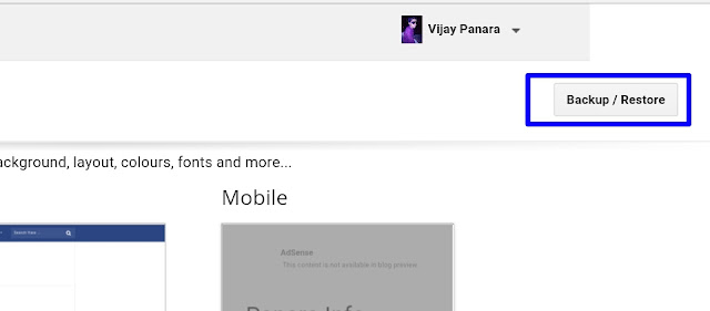 Mobile Blogger Template upload
