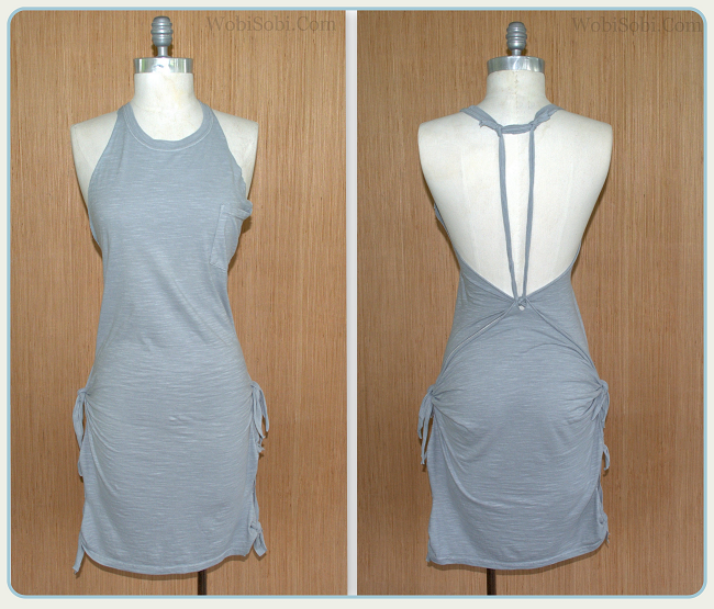 Wobisobi No Sew Grey Summer Tee Shirt Dress Diy