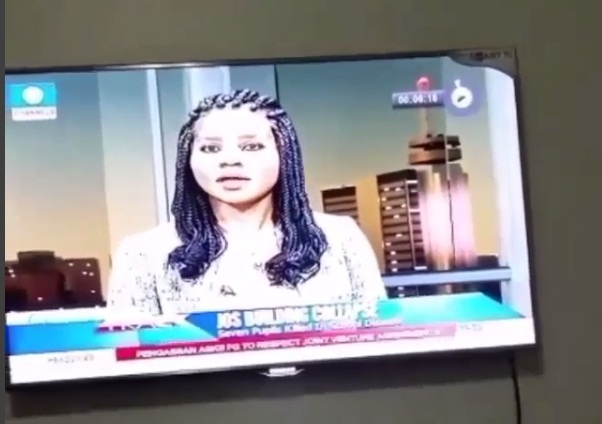 Image result for channels tv anchor caught blowing kiss on air